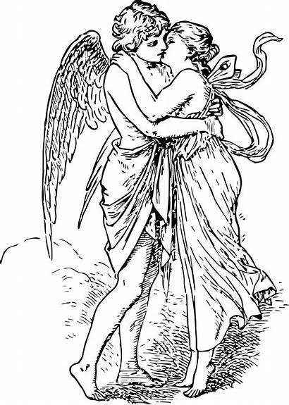Eros Psyche Cupid Clipart Greek Symbol Myth