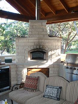 wood fired outdoor kitchens  professional masons