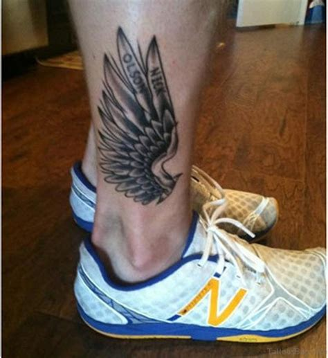 mind blowing wings tattoos  ankle