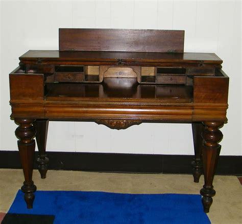 antique walnut spinet desk piano desk secretary antique