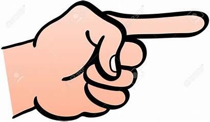 Clipart Hand Fist Pointing Pointer Left Finger