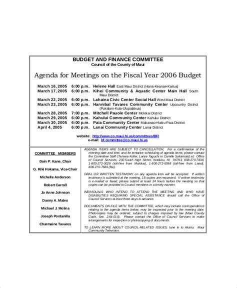 committee meeting agenda template   word