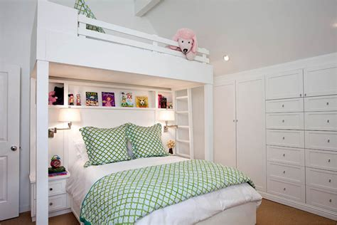custom bunk beds  transitional girls bedroom