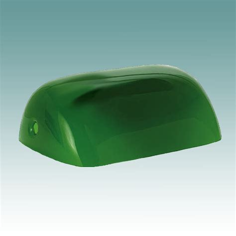 Green Bankers L Shade Replacement by 1442 Green Cased Bankers Shade Glass Lshades