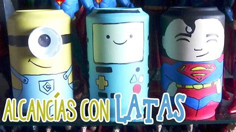 alcancia de los minions hecha  latas candy bu youtube