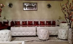 Salon Marocain Blanc : vente achat de salon marocain sur mesure d cor salon ~ Nature-et-papiers.com Idées de Décoration