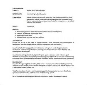Executive Description Duties by Executive Assistant Description Template 8 Free