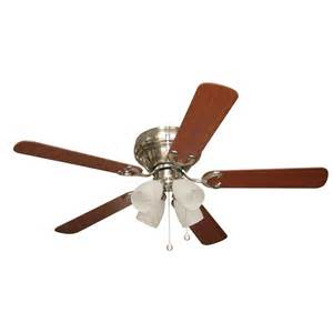 harbor 52 in thirty mile brushed nickel ceiling fan with light kit lowe s canada