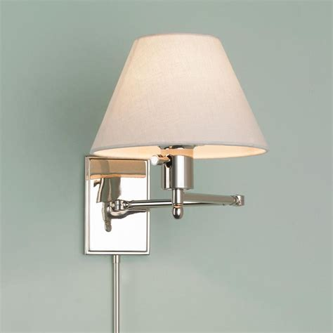 touch wall light with hton bay 1 brushed nickel swing