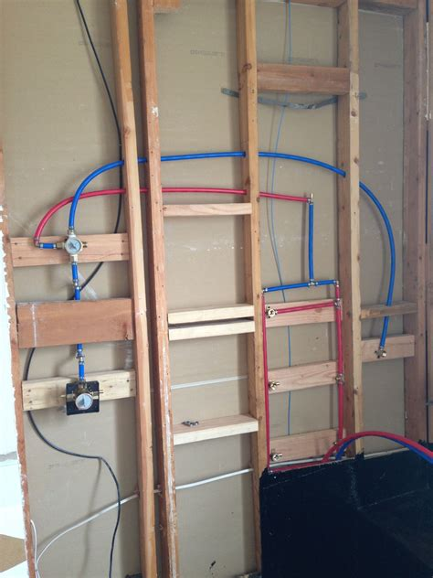 Shower Plumbing by Plumbing The Shower With Pex Bathroom Remodel