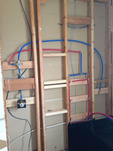 plumbing  shower  pex shower plumbing