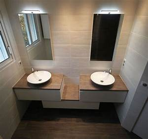 attrayant meuble salle de bain teck leroy merlin 4 With porte de douche coulissante avec meuble bois double vasque salle de bain