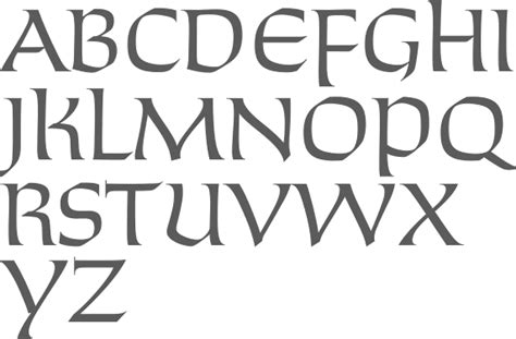 Chiseled Typefaces