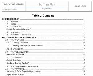 develop human resources plan project management With human resource management plan template