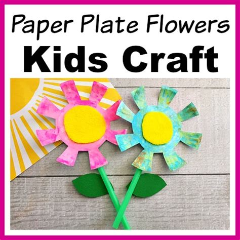 adorable paper plate flowers kids craft fun spring craft
