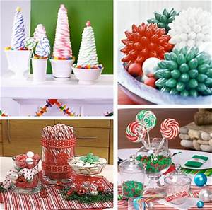 Christmas Candy Table Centerpieces OVAL DINING TABLE