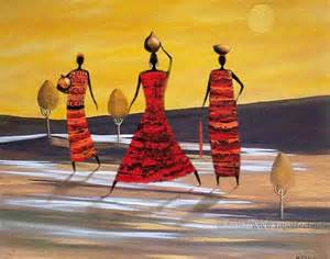 Black Woman Abstract Art Paintings