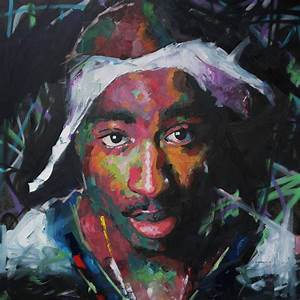 Tupac Shakur Painting by Richard Day