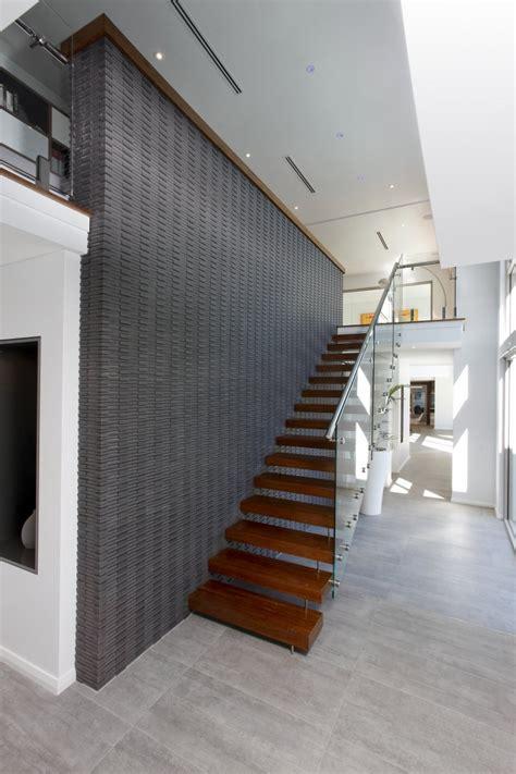 open space stairs modern rectangular shaped house boasting an elegantly joyful interior freshome com