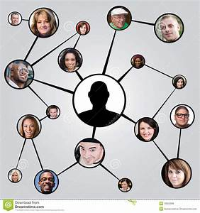 Social Networking Friends Diagram Royalty Free Stock Image