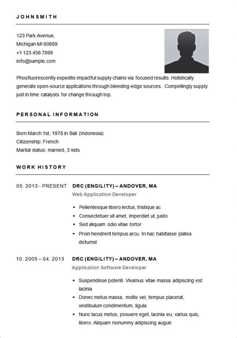Sle Of Basic Resume by Basic Resume Sles Bravebtr