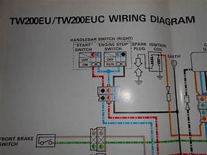 Yamaha Oem Factory Color Wiring Diagram Schematic Tw200eu