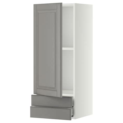 2 door wall cabinet metod maximera wall cabinet with door 2 drawers white