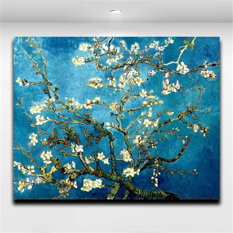 blossoming almond tree  van gogh famous works oil