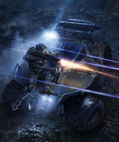 Halo 4 Art And Pictures Master Chief And Warthog Video