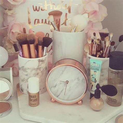 The Lovely Side Dorm Decor Week Rose Gold White Marble
