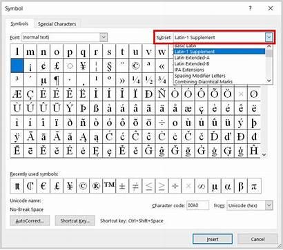 Word Symbols Currency Insert Microsoft Symbol Subset