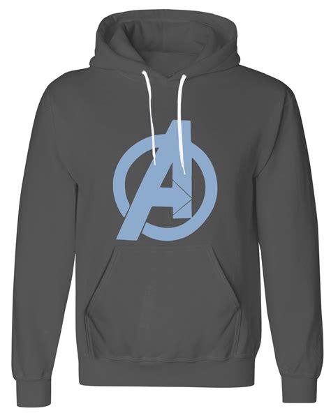 mens avengers marvel superhero logo pullover fleece hoodie