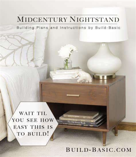build  midcentury nightstand build basic
