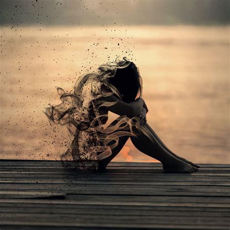 wallpaper sad smoke girl sadness mood girly