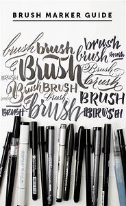 21 hand lettering and brush lettering tutorials With brush lettering markers