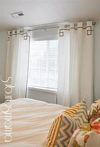 Suburbs mama master bedroom curtains for Images of bedroom with curtains