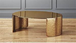 cuff hammered gold coffee table reviews cb2 With gold hammered coffee table