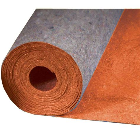 home depot laminate underlayment mp global best 400 in x 36 in x 1 8 in acoustical recycled fiber underlayment with film for