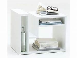 Table D Appoint Salon : table d 39 appoint fritz coloris blanc vente de table basse conforama ~ Melissatoandfro.com Idées de Décoration