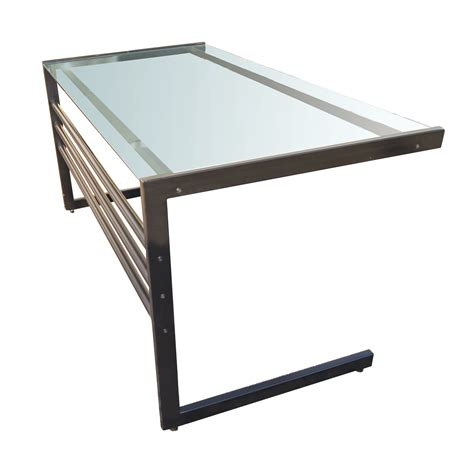 glass table computer desk bukit home interior and exterior