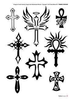 Tattoo flash book №2 - сross   Kreuz tattoo, Tattoo