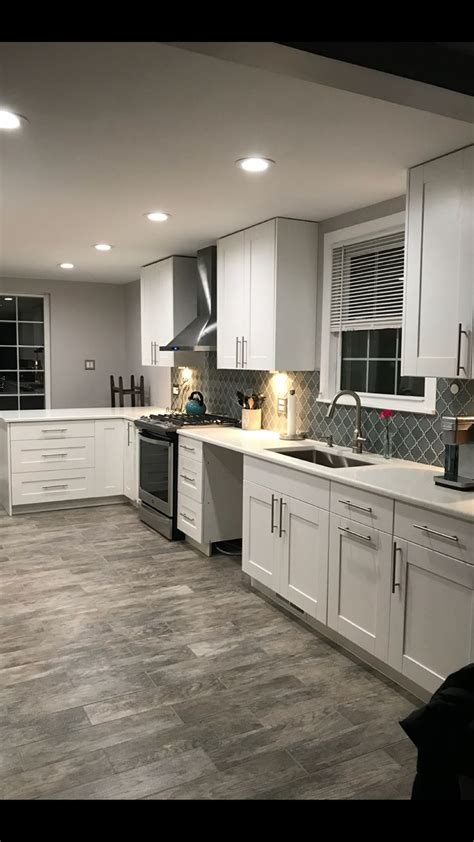 exact color scheme white cabinets white trim