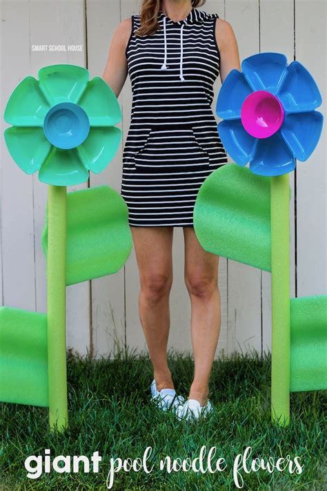 giant pool noodle flowers diy projects pool noodle
