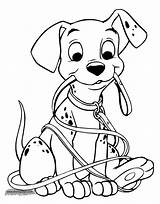 Coloring Pages 101 Dalmatians Puppy Disney Sheets Printable Books Dalmation Disneyclips Dog Puppies 1376 Leash Template 1077 Pepper Mouth Martinchandra sketch template