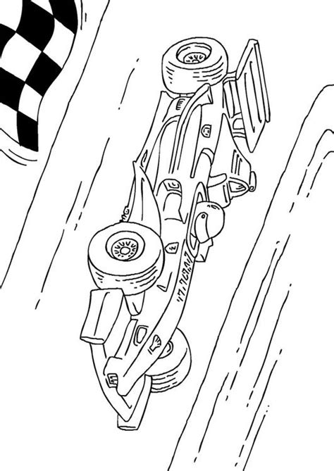 Kleurplaat Formule 1 by Kleurplaat Formule 1 Race Wagen Afb 27177