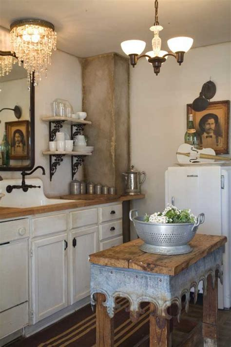 super neat  inexpensive rustic kitchen islands