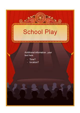 early learning resources editable school play poster