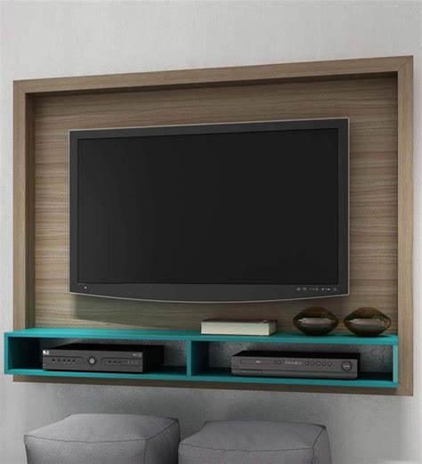 buy yasuo wall mounted tv unit  oak aquamarine blue
