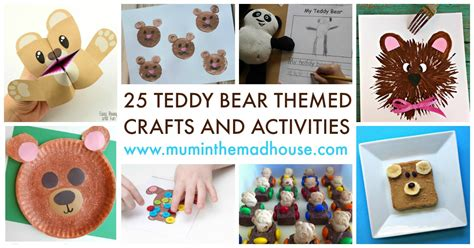 25 teddy themed crafts and activities celebrate 348   25 Teddy Bear Themed Crafts and Activities