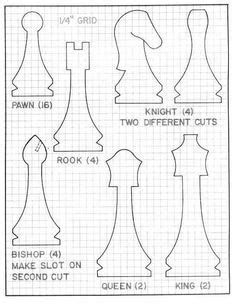 printable wood carving patterns  chess set